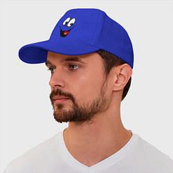 Бейсболка Заразительная улыбка цвета синий — фото 1