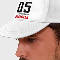 Бейсболка 05 Dagestan цвета белый — фото 2