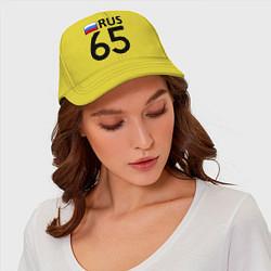 Бейсболка RUS 65 цвета желтый — фото 2