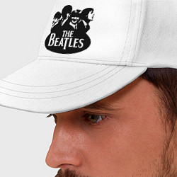 Бейсболка The Beatles Band цвета белый — фото 2