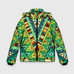 Куртка зимняя для мальчика Этно цвета 3D-черный — фото 1