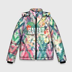 Куртка зимняя для мальчика Hawaii Summer цвета 3D-черный — фото 1