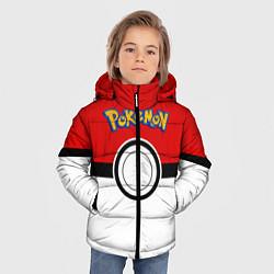 Куртка зимняя для мальчика Покеболл 3 цвета 3D-черный — фото 2