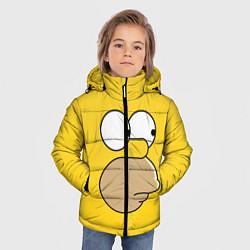Куртка зимняя для мальчика Лицо Гомера цвета 3D-черный — фото 2