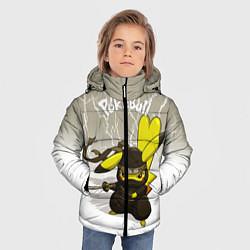 Куртка зимняя для мальчика Pikachu цвета 3D-черный — фото 2