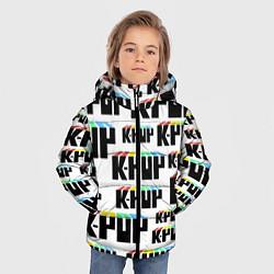 Куртка зимняя для мальчика K-pop Pattern цвета 3D-черный — фото 2