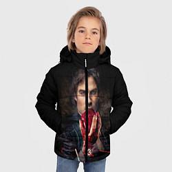 Куртка зимняя для мальчика Damon Salvatore V3 цвета 3D-черный — фото 2