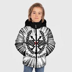 Куртка зимняя для мальчика Войска связи цвета 3D-черный — фото 2