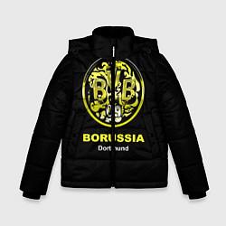 Куртка зимняя для мальчика Borussia Dortmund цвета 3D-черный — фото 1