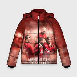 Куртка зимняя для мальчика Manchester United цвета 3D-черный — фото 1