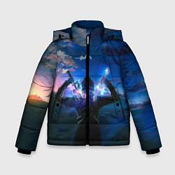 Куртка зимняя для мальчика Мастера меча онлайн цвета 3D-черный — фото 1