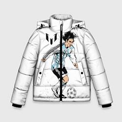 Детская зимняя куртка для мальчика с принтом Messi Young, цвет: 3D-черный, артикул: 10111492706063 — фото 1