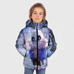 Куртка зимняя для мальчика Winter forest & Sans цвета 3D-черный — фото 2