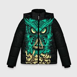 Детская зимняя куртка для мальчика с принтом Bring Me The Horizon: Owl, цвет: 3D-черный, артикул: 10112869706063 — фото 1