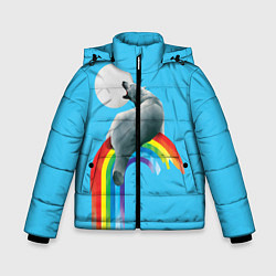 Куртка зимняя для мальчика Полярный мишка цвета 3D-черный — фото 1