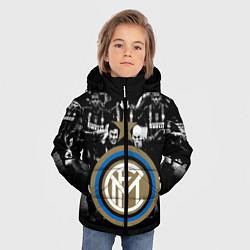 Детская зимняя куртка для мальчика с принтом Интер ФК, цвет: 3D-черный, артикул: 10113557306063 — фото 2