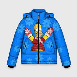 Куртка зимняя для мальчика Новогодний Гомер цвета 3D-черный — фото 1