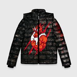 Куртка зимняя для мальчика Кабан-качок цвета 3D-черный — фото 1
