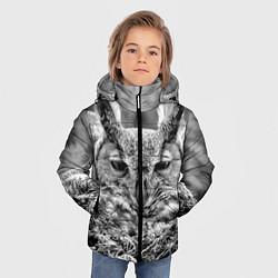 Куртка зимняя для мальчика Ночной филин цвета 3D-черный — фото 2