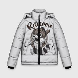 Куртка зимняя для мальчика Evil Raccoon цвета 3D-черный — фото 1