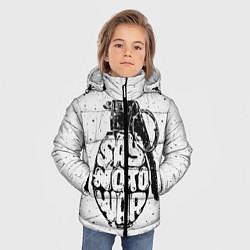 Куртка зимняя для мальчика Say no to War цвета 3D-черный — фото 2