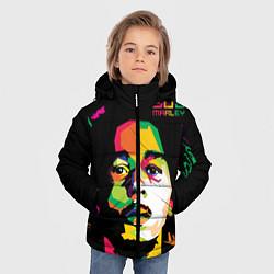 Куртка зимняя для мальчика Боб Марли: фан-арт цвета 3D-черный — фото 2