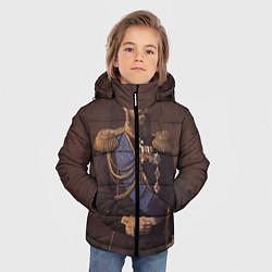 Куртка зимняя для мальчика Александр III Миротворец цвета 3D-черный — фото 2