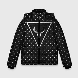 Куртка зимняя для мальчика Hipster Wonderland цвета 3D-черный — фото 1