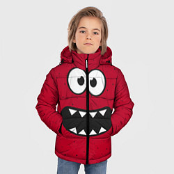 Куртка зимняя для мальчика Веселый монстрик цвета 3D-черный — фото 2