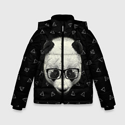 Куртка зимняя для мальчика Умная панда цвета 3D-черный — фото 1