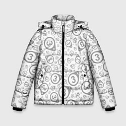 Куртка зимняя для мальчика HL3 Pattern цвета 3D-черный — фото 1