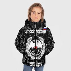 Куртка зимняя для мальчика Служу России: военная разведка цвета 3D-черный — фото 2