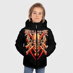 Куртка зимняя для мальчика Megadeth: Gold Skull цвета 3D-черный — фото 2