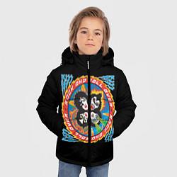 Куртка зимняя для мальчика KISS: Over цвета 3D-черный — фото 2
