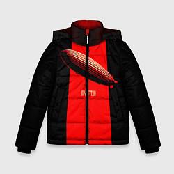 Куртка зимняя для мальчика Led Zeppelin: Red line цвета 3D-черный — фото 1