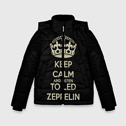 Куртка зимняя для мальчика Keep Calm & Led Zeppelin - фото 1