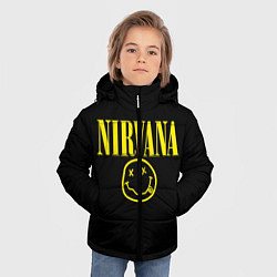 Куртка зимняя для мальчика Nirvana Rock цвета 3D-черный — фото 2