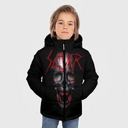 Куртка зимняя для мальчика Slayer: Wild Skull цвета 3D-черный — фото 2