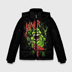 Детская зимняя куртка для мальчика с принтом Slayer Slimer, цвет: 3D-черный, артикул: 10119944306063 — фото 1