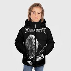 Детская зимняя куртка для мальчика с принтом Dave Mustaine, цвет: 3D-черный, артикул: 10121348006063 — фото 2