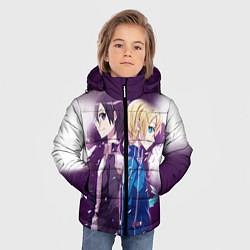 Куртка зимняя для мальчика Юдзио (ユージオ Yūjio цвета 3D-черный — фото 2