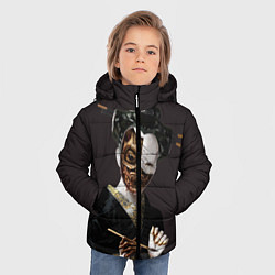 Куртка зимняя для мальчика Ghost In The Shell 1 цвета 3D-черный — фото 2