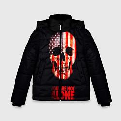 Куртка зимняя для мальчика Ты не одинок! цвета 3D-черный — фото 1