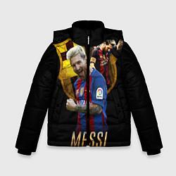 Детская зимняя куртка для мальчика с принтом Messi Star, цвет: 3D-черный, артикул: 10126863506063 — фото 1