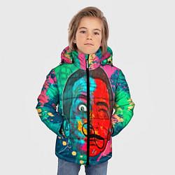 Куртка зимняя для мальчика Dali Art цвета 3D-черный — фото 2