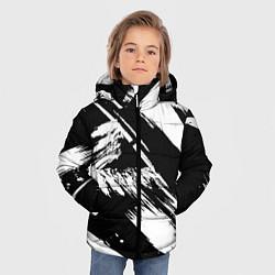 Куртка зимняя для мальчика Чёрно-белый цвета 3D-черный — фото 2
