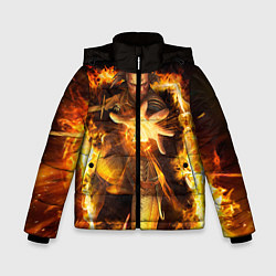 Куртка зимняя для мальчика Witcher gwent 3 цвета 3D-черный — фото 1