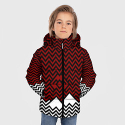 Куртка зимняя для мальчика Твин Пикс: Минимализм цвета 3D-черный — фото 2