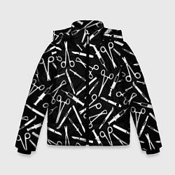 Куртка зимняя для мальчика Шприцы цвета 3D-черный — фото 1