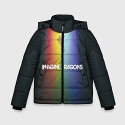 Детская зимняя куртка для мальчика с принтом Imagine Dragons, цвет: 3D-черный, артикул: 10132586706063 — фото 1